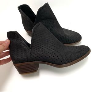 Lucky Brand Bashina Sz 7 M Black Suede Perforated
